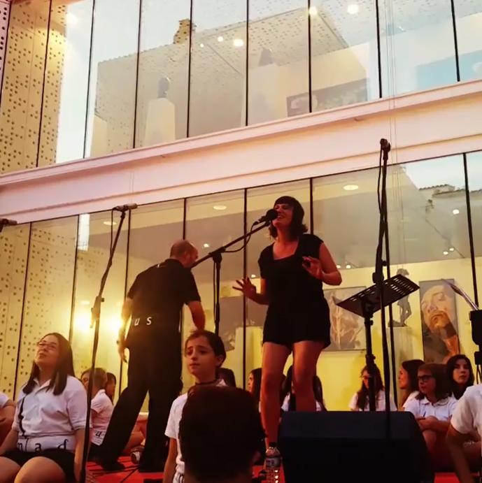 Artista invitada con Amadeus-IN, concierto en el MUBA, Badajoz
